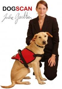 Julie et Rocky chien detecteur
